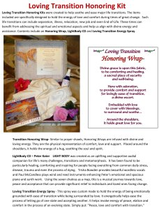 Loving Transition Honoring Kit Info Sheet
