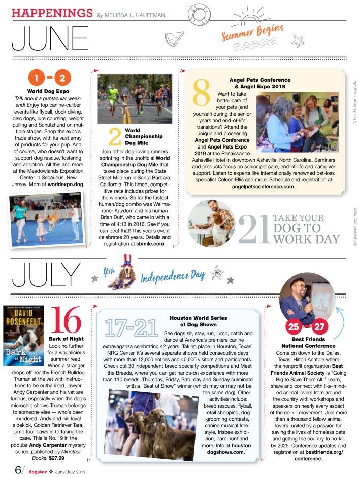 Dogster Magazine June Calendar 2019