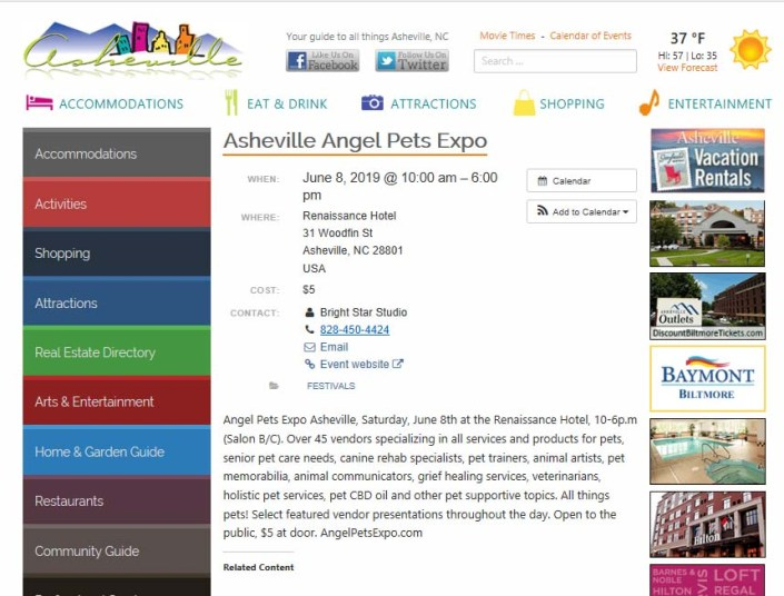 Angelpetsexpo ashevillecom