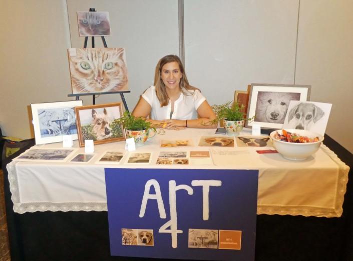 Anna Leckie Art Angel Pets expo 2019 11