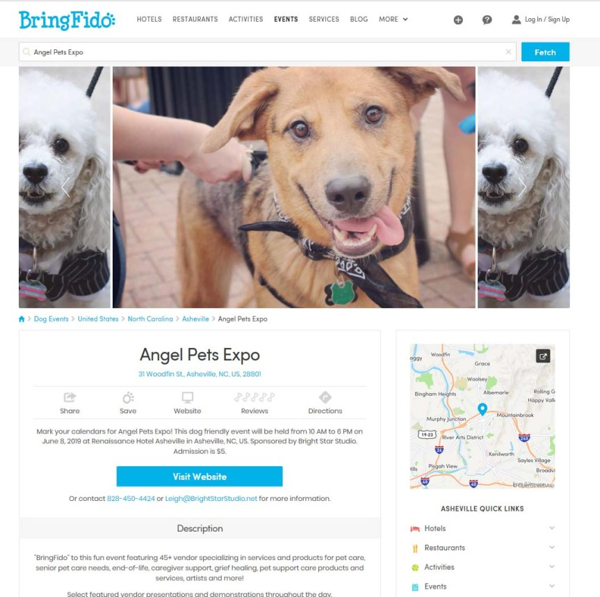 Bring Fido Angel Pets Expo 2019