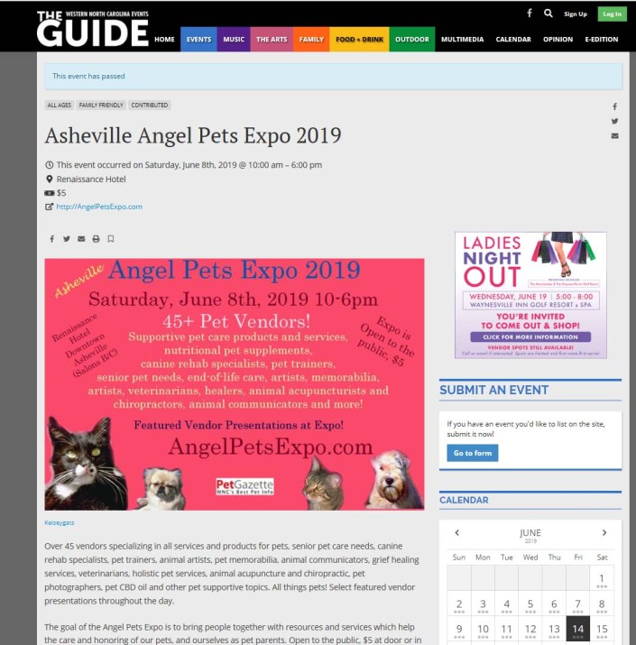 The Guide Angel Pets Expo 2019