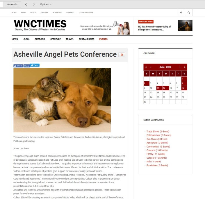 WNCTimes Angel Pets Expo and Conference